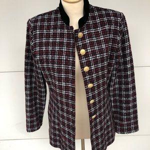 Vintage Misty Lane Women's Plaid Blazer Sz 12